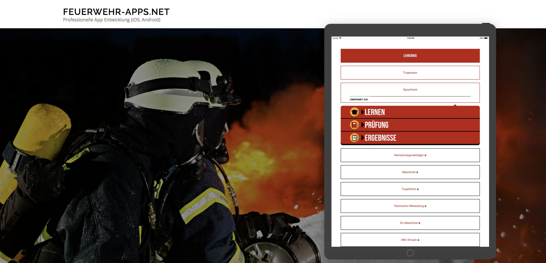 Feuerwehr Prüfungshilfe App für Tablet und iPad (Android & iOS)